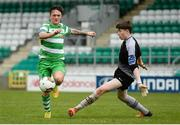 22 April 2017; Rhys Murphy of Shamrock Rovers in action against Colum Feeney of Wexford FC during the SSE Airtricity U17 League match between Shamrock Rovers and Wexford FC at Tallaght Stadium in Tallaght, Dublin. Photo by Eóin Noonan/Sportsfile