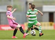 22 April 2017; Conor Behan of Shamrock Rovers in action against Brandon Deady of Wexford FC during the SSE Airtricity U17 League match between Shamrock Rovers and Wexford FC at Tallaght Stadium in Tallaght, Dublin. Photo by Eóin Noonan/Sportsfile