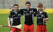 22 April 2017; Participants, from left, Martin McKenna, from Slaughtneil, Seán Faulkner, from Ballerin, and Danny McDermott, from Ballinascreen, all Derry, during the Go Games Provincial Days in partnership with Littlewoods Ireland Day 8 at Croke Park in Dublin. Photo by Piaras Ó Mídheach/Sportsfile