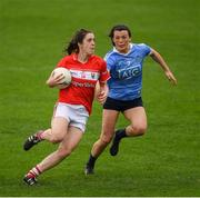 22 April 2017; Ciara O'Sullivan of Cork in action against Leah Caffrey of Dublin during the Lidl Ladies Football National League Division 1 Semi-Final match between Cork and Dublin at Nowlan Park in Kilkenny. Photo by Ray McManus/Sportsfile