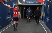 22 April 2017; Tyler Bleyendaal, left, and Peter O'Mahony of Munster leave the pitch after the European Rugby Champions Cup Semi-Final match between Munster and Saracens at the Aviva Stadium in Dublin. Photo by Brendan Moran/Sportsfile