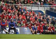 22 April 2017; A general view of the Munster bench during the final moments of the European rugby Champions Cup Semi-Final match between Munster and Saracens at the Aviva Stadium in Dublin. Photo by Diarmuid Greene/Sportsfile