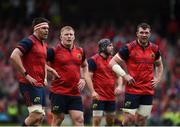 22 April 2017; Billy Holland, John Ryan, Duncan Williams and Peter O'Mahony of Munster during the European Rugby Champions Cup Semi-Final match between Munster and Saracens at the Aviva Stadium in Dublin. Photo by Diarmuid Greene/Sportsfile