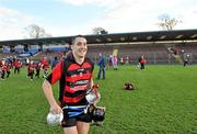 16 October 2011; Ballygunner captain Shane O'Sullivan makes his way from the pitch with the cup. Waterford County Senior Hurling Championship Final, Ballygunner v Tallow, Walsh Park, Co. Waterford. Picture credit: Brian Lawless / SPORTSFILE