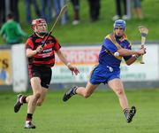 16 October 2011; Mark O'Brien, Tallow, in action against Shane O'Sullivan, Ballygunner. Waterford County Senior Hurling Championship Final, Ballygunner v Tallow, Walsh Park, Co. Waterford. Picture credit: Brian Lawless / SPORTSFILE