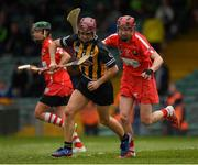 23 April 2017; Anne Dalton of Kilkenny in action against Julianne Malone of Cork during the Littlewoods Ireland Camogie League Div 1 Final match between Cork and Kilkenny at Gaelic Grounds, in Limerick.  Photo by Ray McManus/Sportsfile