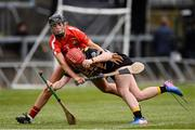 23 April 2017; Danielle Morrissey of Kilkenny in action against Laura Treacy of Cork during the Littlewoods Ireland Camogie League Division 1 Final match between Cork and Kilkenny at Gaelic Grounds in Limerick. Photo by Diarmuid Greene/Sportsfile