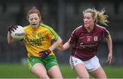 23 April 2017; Shannon McGruddy of Donegal in action against Megan Glynn of Galway during the Lidl Ladies Football National League Division 1 semi-final mach between Donegal and Galway at Markievicz Park, in Sligo. Photo by Brendan Moran/Sportsfile