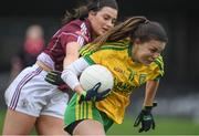 23 April 2017; Niamh Hegarty of Donegal in action against Charlotte Cooney of Galway during the Lidl Ladies Football National League Division 1 semi-final mach between Donegal and Galway at Markievicz Park, in Sligo. Photo by Brendan Moran/Sportsfile