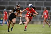 23 April 2017; Aisling Thomson of Cork in action against Katie Power of Kilkenny during the Littlewoods Ireland Camogie League Division 1 Final match between Cork and Kilkenny at Gaelic Grounds in Limerick. Photo by Diarmuid Greene/Sportsfile