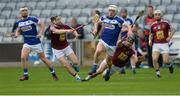 23 April 2017; Ben Conroy of Laois in action against Cormac Boyle, left, and Paul Greville of Westmeath during the Leinster GAA Hurling Senior Championship Qualifier Group Round 1 match between Laois and Westmeath at O'Moore Park, in Portlaoise, Co Laois. Photo by Piaras Ó Mídheach/Sportsfile