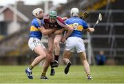23 April 2017; Cathal Mannion of Galway in action against Ronan Maher, left and Brendan Maher of Tipperary during the Allianz Hurling League Division 1 Final match between Galway and Tipperary at the Gaelic Grounds in Limerick. Photo by Diarmuid Greene/Sportsfile