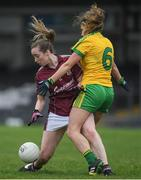 23 April 2017; Caitriona Cormican of Galway in action against Ciara Hegarty of Donegal during the Lidl Ladies Football National League Division 1 semi-final match between Donegal and Galway at Markievicz Park, in Sligo. Photo by Brendan Moran/Sportsfile