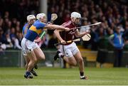 23 April 2017; Jason Flynn of Galway in action against Séamus Kennedy, left, and Michael Cahill of Tipperary  during the Allianz Hurling League Division 1 Final match between Galway and Tipperary at the Gaelic Grounds in Limerick. Photo by Diarmuid Greene/Sportsfile