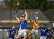 23 April 2017; Brendan O'Leary and Maurice O'Connor of Kerry in action against Joe Keena and Cormac Reilly of Meath during the Leinster GAA Hurling Senior Championship Qualifier Group Round 1 match between Meath and Kerry at Pairc Tailteann, in Navan. Photo by Matt Browne/Sportsfile