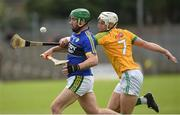 23 April 2017; Mikey Boyle of Kerry in action against Keith Keoghan of Meath during the Leinster GAA Hurling Senior Championship Qualifier Group Round 1 match between Meath and Kerry at Pairc Tailteann, in Navan. Photo by Matt Browne/Sportsfile