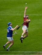 23 April 2017; Aonghus Clarke of Westmeath in action against Stephen Maher of Laois during the Leinster GAA Hurling Senior Championship Qualifier Group Round 1 match between Laois and Westmeath at O'Moore Park, in Portlaoise, Co Laois. Photo by Piaras Ó Mídheach/Sportsfile