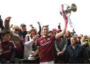 23 April 2017; David Burke of Galway lifts the cup with Galway supporters after the Allianz Hurling League Division 1 Final match between Galway and Tipperary at Gaelic Grounds, in Limerick. Photo by Ray McManus/Sportsfile