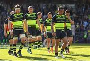 23 April 2017; Josh van der Flier, Isa Nacewa and their Leinster team-mates following the European Rugby Champions Cup Semi-Final match between ASM Clermont Auvergne and Leinster at Matmut Stadium de Gerland in Lyon, France. Photo by Stephen McCarthy/Sportsfile