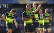 23 April 2017; Isa Nacewa and his Leinster team-mates following the European Rugby Champions Cup Semi-Final match between ASM Clermont Auvergne and Leinster at Matmut Stadium de Gerland in Lyon, France. Photo by Stephen McCarthy/Sportsfile