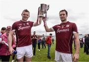 23 April 2017; Joe Canning, left, and captain David Burke of Galway celebrate with the cup after the Allianz Hurling League Division 1 Final match between Galway and Tipperary at the Gaelic Grounds in Limerick. Photo by Diarmuid Greene/Sportsfile
