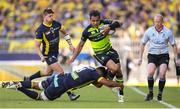 23 April 2017; Isa Nacewa of Leinster is tackled by Fritz Lee of ASM Clermont Auvergne during the European Rugby Champions Cup Semi-Final match between ASM Clermont Auvergne and Leinster at Matmut Stadium de Gerland in Lyon, France. Photo by Stephen McCarthy/Sportsfile