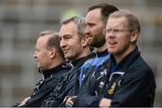 23 April 2017; Tipperary manager Michael Ryan, second from left, with his selectors Conor Stakelum, right, Declan Fanning and John Madden, left, during the last minute of the Allianz Hurling League Division 1 Final match between Galway and Tipperary at Gaelic Grounds, in Limerick. Photo by Diarmuid Greene/Sportsfile