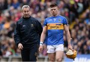23 April 2017; Tipperary manager Michael Ryan with captain Pádraic Maher before the Allianz Hurling League Division 1 Final match between Galway and Tipperary at the Gaelic Grounds in Limerick. Photo by Diarmuid Greene/Sportsfile