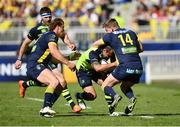 23 April 2017; Isa Nacewa of Leinster is tackled by David Strettle of ASM Clermont Auvergne during the European Rugby Champions Cup Semi-Final match between ASM Clermont Auvergne and Leinster at Matmut Stadium de Gerland in Lyon, France. Photo by Ramsey Cardy/Sportsfile