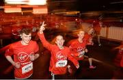 23 April 2017; Participants in action during the Virgin Media Night Run at Spencer Dock Hotel, in Dublin. Photo by Cody Glenn/Sportsfile