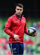 22 April 2017; Conor Murray of Munster during the European Rugby Champions Cup Semi-Final match between Munster and Saracens at the Aviva Stadium in Dublin. Photo by Ramsey Cardy/Sportsfile