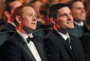 21 October 2011; Footballers Colm Cooper, Kerry and Diarmuid Connolly, Dublin, in attendance at the GAA GPA All-Star Awards 2011 sponsored by Opel. National Convention Centre, Dublin. Picture credit: Brendan Moran / SPORTSFILE