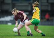 23 April 2017; Caitriona Cormican of Galway in action against Ciara Hegarty of Donegal during the Lidl Ladies Football National League Division 1 semi-final mach between Donegal and Galway at Markievicz Park, in Sligo. Photo by Brendan Moran/Sportsfile