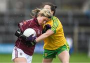 23 April 2017; Tracey Leonard of Galway in action against Therese McClaffrety of Donegal during the Lidl Ladies Football National League Division 1 semi-final mach between Donegal and Galway at Markievicz Park, in Sligo. Photo by Brendan Moran/Sportsfile