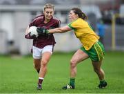 23 April 2017; Sinead Burke of Galway in action against Ciara Hegarty of Donegal during the Lidl Ladies Football National League Division 1 semi-final mach between Donegal and Galway at Markievicz Park, in Sligo. Photo by Brendan Moran/Sportsfile