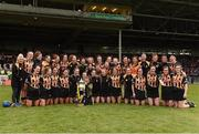 23 April 2017; The Kilkenny squad celebrate with the cup after the Littlewoods Ireland Camogie League Division 1 Final match between Cork and Kilkenny at Gaelic Grounds in Limerick. Photo by Diarmuid Greene/Sportsfile
