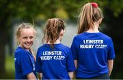 25 April 2017; The Bank of Ireland Leinster Rugby Camps were launched by Leinster Rugby stars Jonathon Sexton, Sean O'Brien and Jack McGrath at a pop up training session in St. Mary's National School, Ranelagh. The camps will run in 27 different venues across the province throughout July and August. Visit www.leinsterrugby.ie/camps for more information. Alanna Costello, left, looks on during the session. St. Mary's National School, Milltown Park, Sandford Road, Ranelagh, Dublin. Photo by David Fitzgerald/Sportsfile