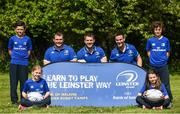 25 April 2017; The Bank of Ireland Leinster Rugby Camps were launched by Leinster Rugby stars Jonathon Sexton, Sean O'Brien and Jack McGrath at a pop up training session in St. Mary's National School, Ranelagh. The camps will run in 27 different venues across the province throughout July and August. Visit www.leinsterrugby.ie/camps for more information. Leinster players, Jack McGrath, left, Sean O'Brien and Jonathon Sexton pictured with kids Jake Walsh-Keane, left, Catherine O'Connor, Alex O'Connor and Sophia Hickey. St. Mary's National School, Milltown Park, Sandford Road, Ranelagh, Dublin. Photo by David Fitzgerald/Sportsfile