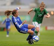 22 October 2011; Denise O'Sullivan, Republic of Ireland, in action against Moran Fridman, Israel. UEFA Women's Euro 2013 Qualifier, Republic of Ireland v Israel, Tallaght Stadium, Tallaght, Dublin. Picture credit: Stephen McCarthy / SPORTSFILE