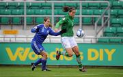 22 October 2011; Fiona O'Sullivan, Republic of Ireland, in action against Michal Ravitz, Israel. UEFA Women's Euro 2013 Qualifier, Republic of Ireland v Israel, Tallaght Stadium, Tallaght, Dublin. Picture credit: Stephen McCarthy / SPORTSFILE