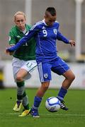 22 October 2011; Adva Tvil, Israel, in action against Stephaine Roche, Republic of Ireland. UEFA Women's Euro 2013 Qualifier, Republic of Ireland v Israel, Tallaght Stadium, Tallaght, Dublin. Picture credit: Stephen McCarthy / SPORTSFILE