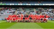17 March 2017; The Cuala panel ahead of the AIB GAA Hurling All-Ireland Senior Club Championship Final match between Ballyea and Cuala at Croke Park in Dublin. Photo by Daire Brennan/Sportsfile