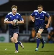 28 April 2017; James Tracy with the support of his Leinster team-mate Ross Molony during the Guinness PRO12 Round 21 match between Leinster and Glasgow Warriors at the RDS Arena in Dublin. Photo by Stephen McCarthy/Sportsfile