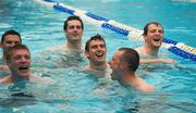 30 October 2011; Members of the Ireland  International Rules Series 2011 team, including Colm Beglay, centre, Michael Murphy, Kieran Donaghy, Tommy Walsh, Eamonn Callaghan and Kevin McKernan, swim during a visit to St Kilda Sea baths, St Kilda, Melbourne Bay, Australia. Picture credit: Ray McManus / SPORTSFILE