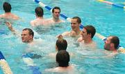 30 October 2011; Members of the Ireland International Rules Series 2011 team, including Neil Mcgee, Brendan Murphy, Aidan Walsh and Ciaran Mckeever, enjoy a swim during a visit to St Kilda Sea baths, St Kilda, Melbourne Bay, Australia. Picture credit: Ray McManus / SPORTSFILE