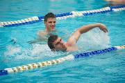 30 October 2011; Colm Begley enjoys a swim as members of the Ireland International Rules Series 2011 team visit St Kilda Sea baths, St Kilda, Melbourne Bay, Australia. Picture credit: Ray McManus / SPORTSFILE