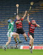 30 October 2011; Seamus Butler, Drom & Inch, in action against Shane Walsh, and David O'Sullivan, right, Ballygunner. AIB Munster GAA Hurling Senior Club Championship First Round, Drom & Inch v Ballygunner, Semple Stadium, Thurles, Co. Tipperary. Picture credit: Diarmuid Greene / SPORTSFILE
