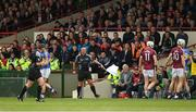 23 April 2017; Linesman James McGrath indicates a line ball during the Allianz Hurling League Division 1 Final match between Galway and Tipperary at Gaelic Grounds, in Limerick. Photo by Ray McManus/Sportsfile