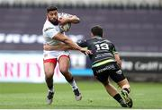 29 April 2017; Charles Piutau of Ulster is tackled by Kieron Fonotia of Ospreys during the Guinness PRO12 Round 21 match between Ospreys and Ulster at Liberty Stadium in Swansea, Wales. Photo by Ben Evans/Sportsfile