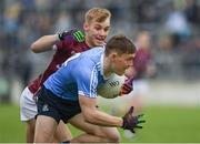 29 April 2017; Con O'Callaghan of Dublin in action against Liam Kelly of Galway during the EirGrid All-Ireland U21 Football Final match between Dublin and Galway at O'Connor Park in Tullamore, Dublin. Photo by Ray McManus/Sportsfile